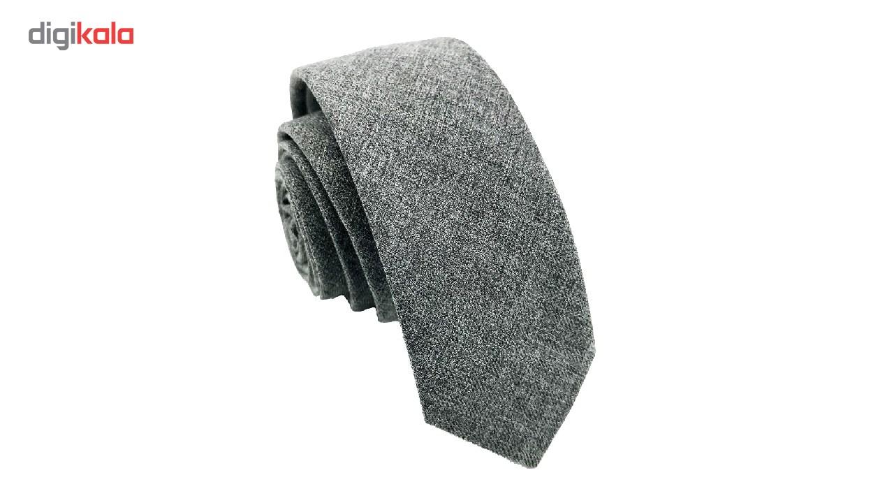 کراوات هکس ایران مدل KT-Gray01