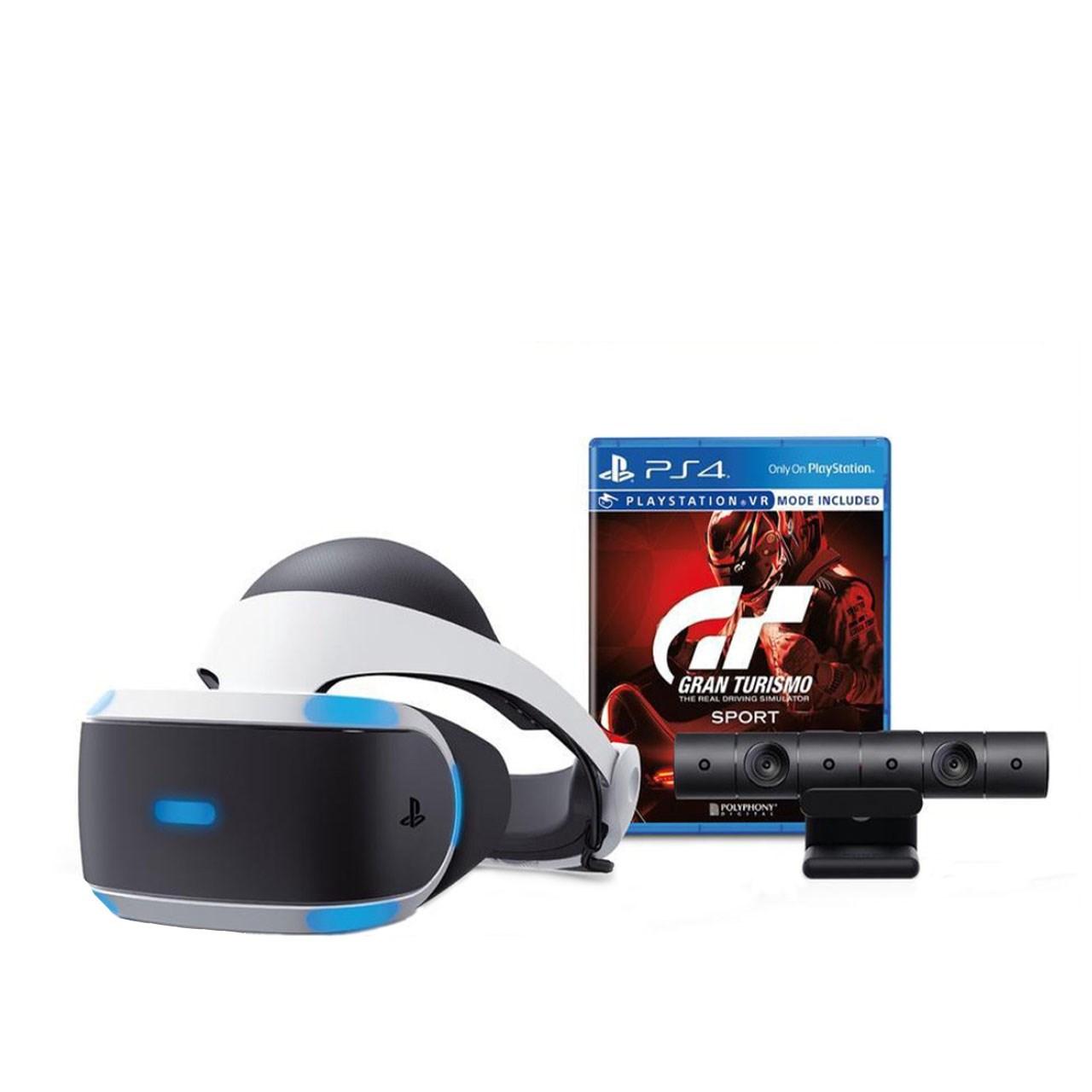 عکس مجموعه عینک واقعیت مجازی سونی مدل PlayStation VR به همراه بازی Granturismo
