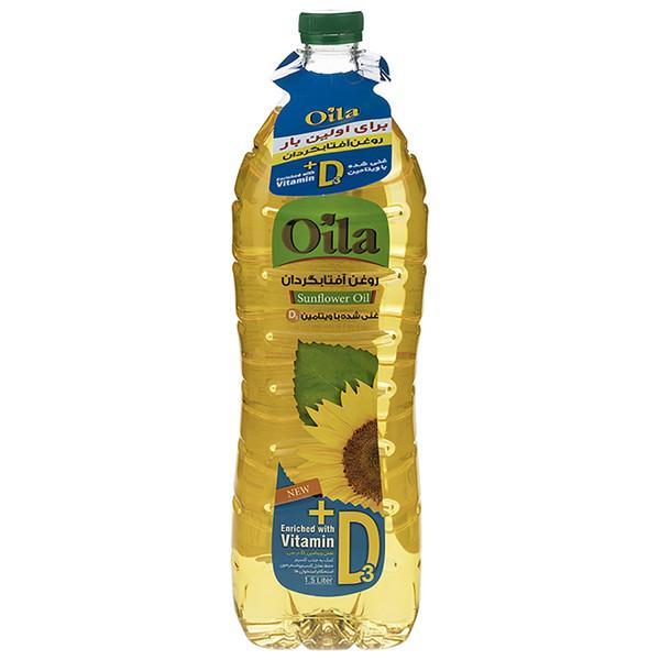 روغن مایع آفتابگردان غنی شده با ویتامین دی اویلا مقدار 1500 میلی لیتر