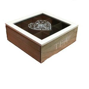 جعبه چای خانه سفید طرح مربع مدل 01