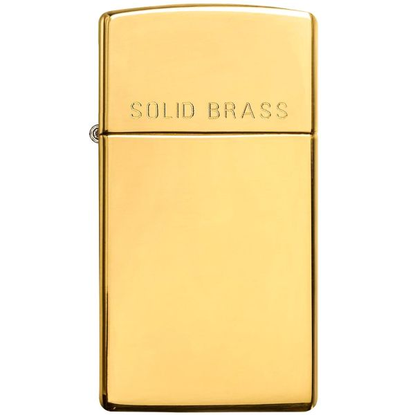فندک زیپو مدل Slim Solid Brass کد 1654