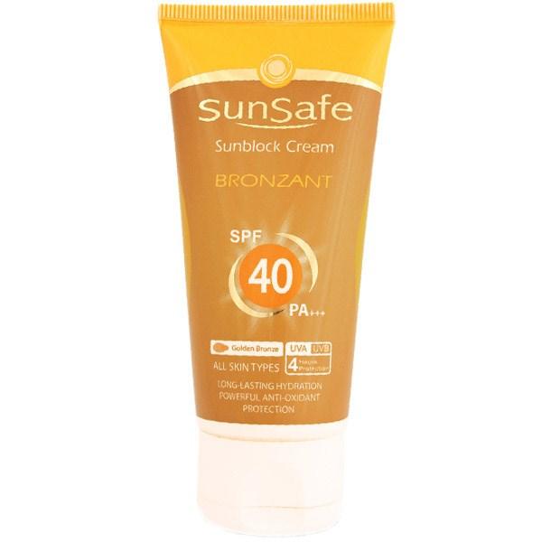 قیمت کرم ضد آفتاب سان سیف مدل Bronzant SPF40 مقدار 50 گرم