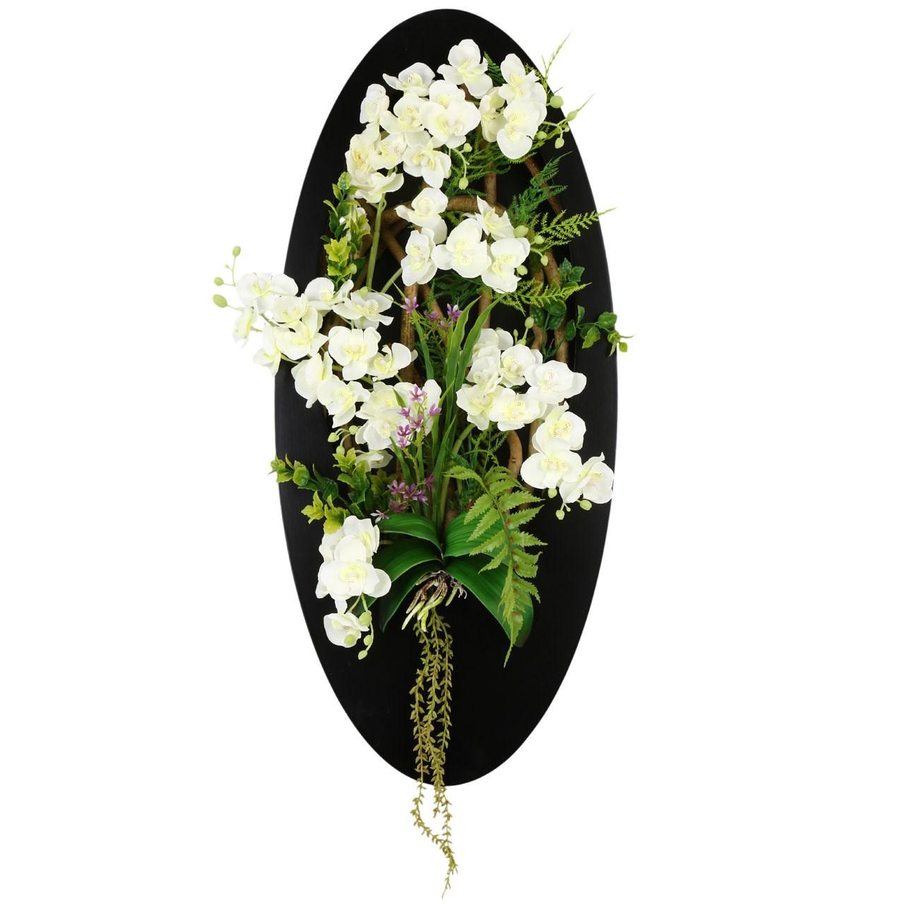 تابلو گل مصنوعی هومز طرح ارکیده مدل 30562