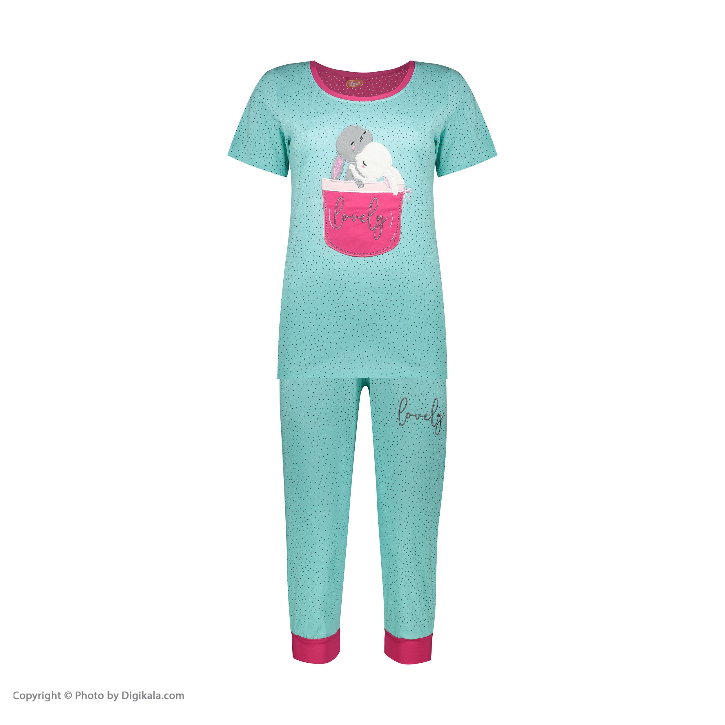 ست تی شرت و شلوارک راحتی زنانه مادر مدل 2041102-54 -  - 3