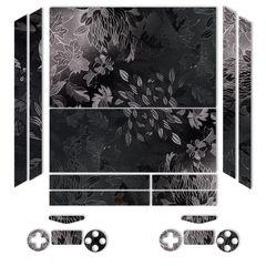 برچسب ماهوت مدلBlack Wild-flower Texture مناسب برای کنسول بازی PS4