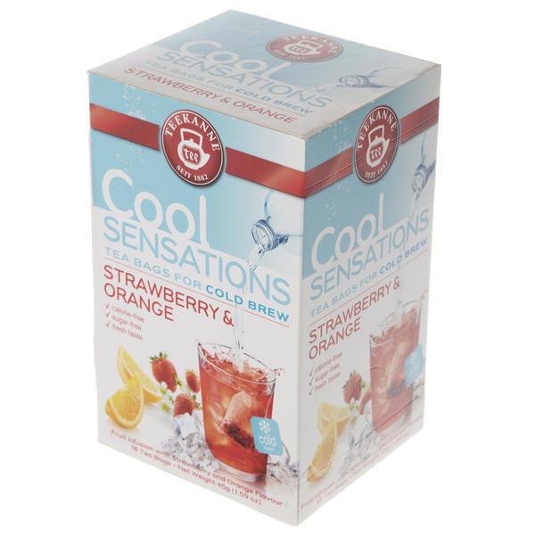 چای کیسه ای تی کانه مدل Cool Sensations Strawberry and Orange بسته 18 عددی
