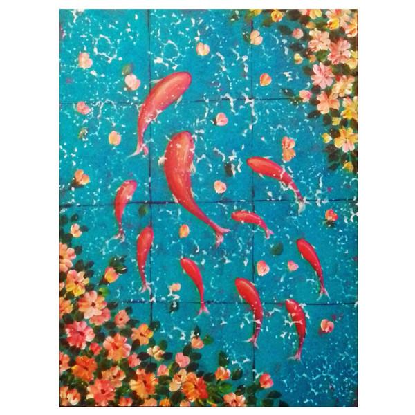 تابلو شاسی نقاشی گالری نقش مایه مدل N31 سایز 30 × 40