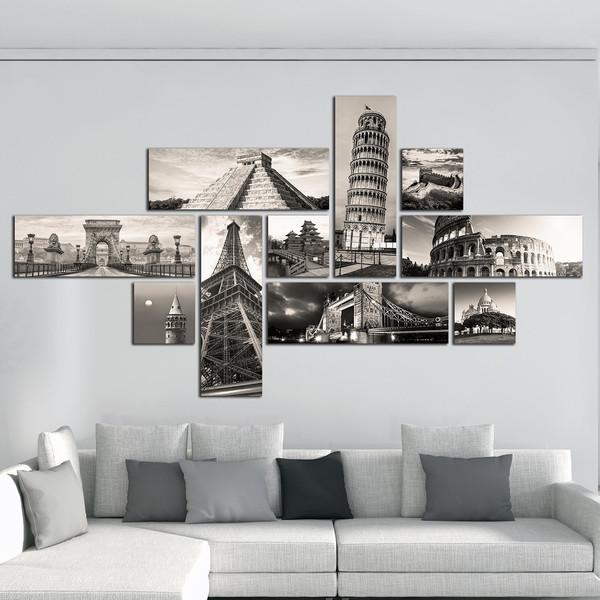 تابلو دیواری 10 تکه آریکان کد TA5701