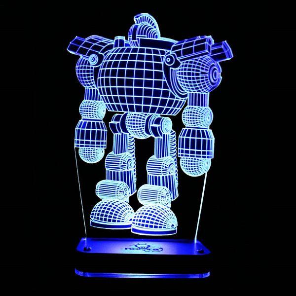 چراغ خواب سه بعدی نورا مدل آدم آهنی