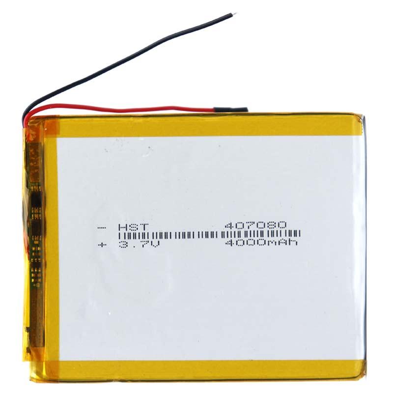 بررسی و {خرید با تخفیف}                                     باتری لیتیوم یون مدل 407080 ظرفیت 4000 میلی آمپر ساعت                             اصل
