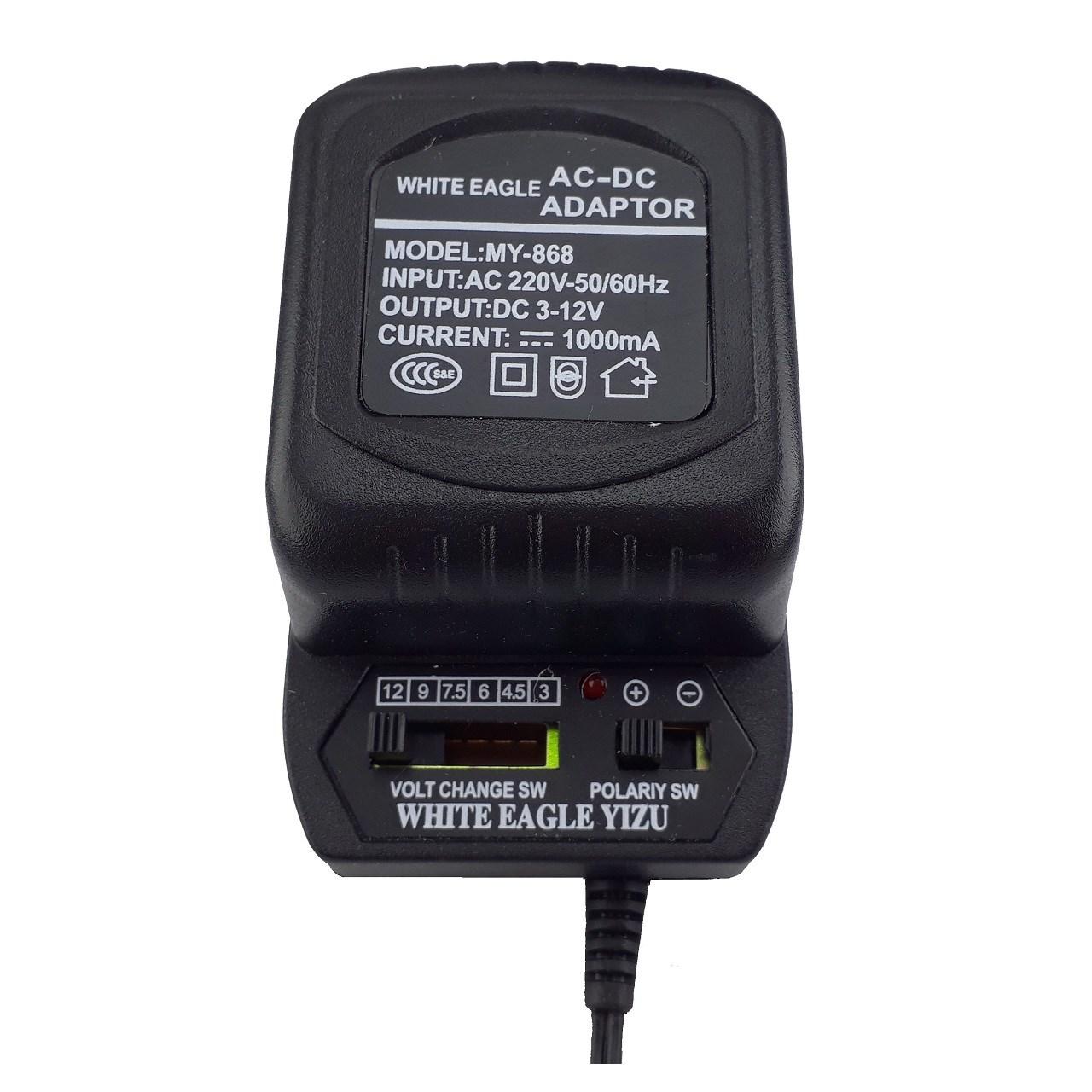آداپتور  متغیر  220 به 3 تا 12  ولت  وایت ایگل مدل MY-868