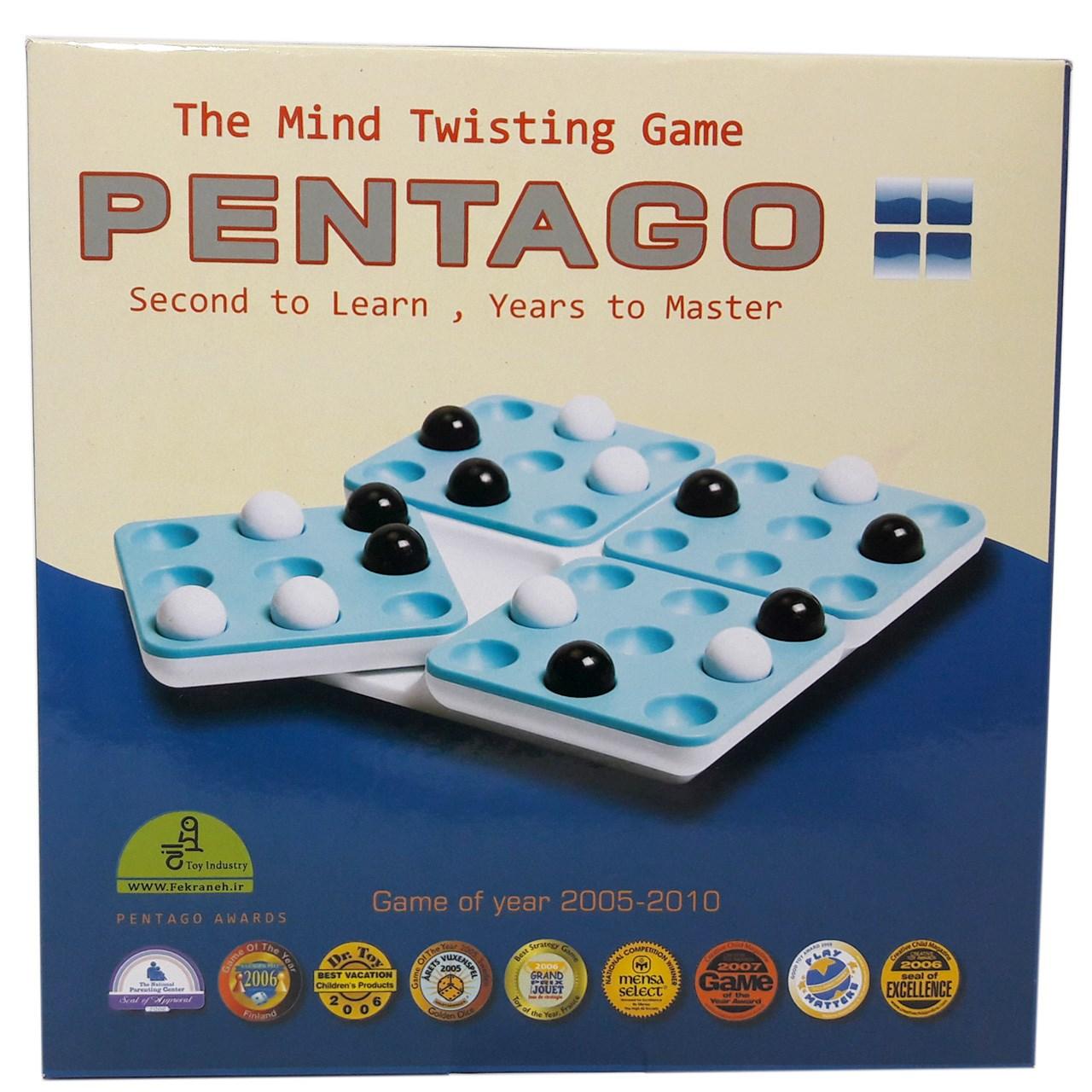 خرید                     بازی فکری پنتاگو فکرانه مدل Pentago