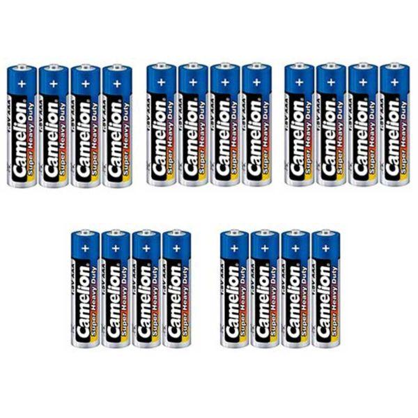 باتری نیم قلمی کملیون مدل Super Heavy Duty بسته 20 عددی