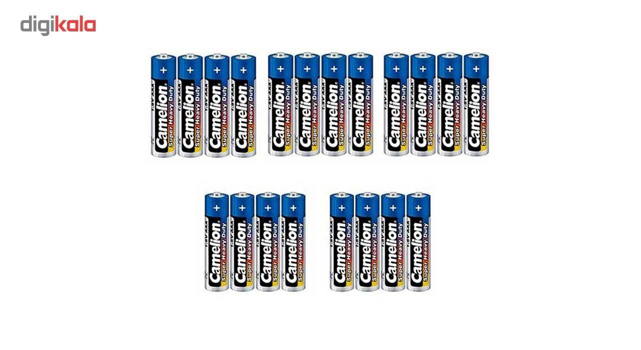 باتری نیم قلمی کملیون مدل Super Heavy Duty بسته 20 عددی main 1 1