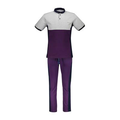 تصویر ست تی شرت و شلوارک مردانه رویین تن پوش مدل 1201