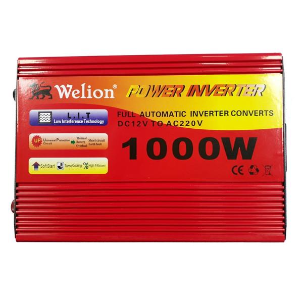 مبدل برق خودرو ویلیون مدل 12V-TO-220V-1000W