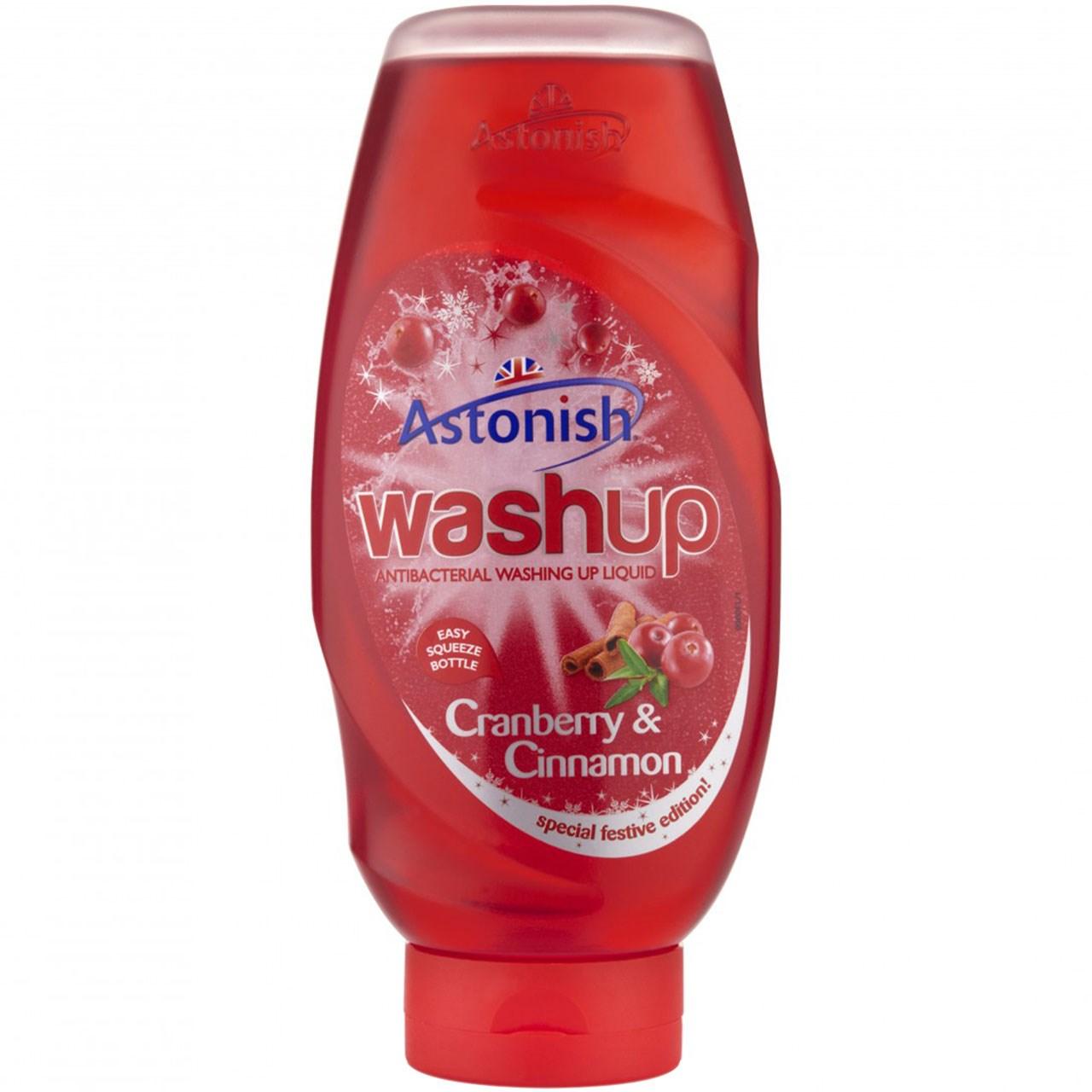 مایع ظرفشویی استونیش مدل Washup Cranberry And Cinnamon حجم 600 میلی لیتر