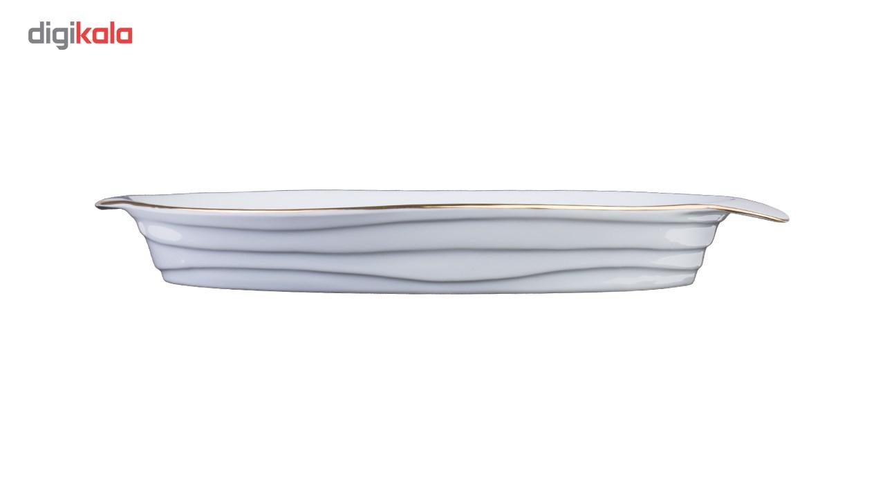 ظرف سرو لیمون چینی طرح خط طلایی مدل C1