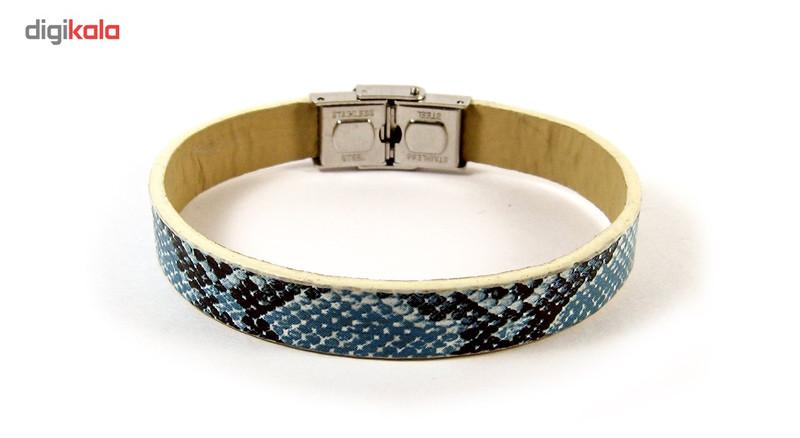 دستبند چرم حامد گالری طرح پوست مار مدل bl4019