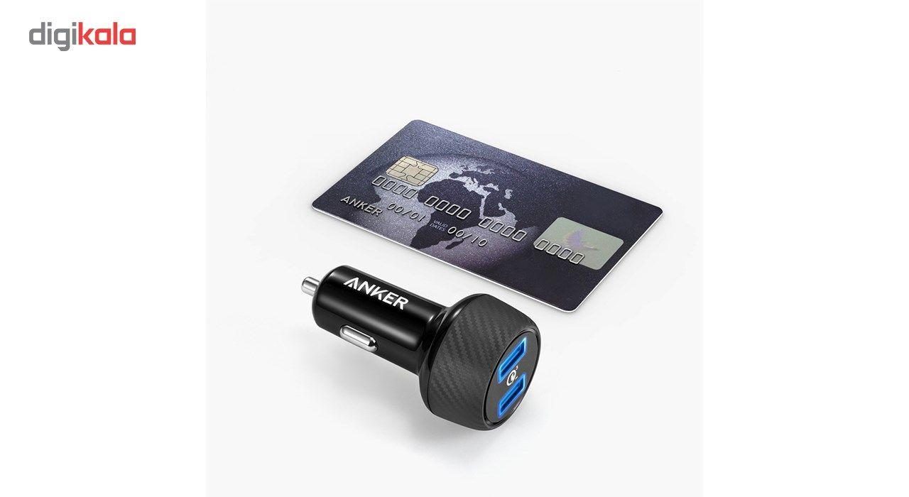 شارژر فندکی انکر مدل A2228 PowerDrive Speed 2 Ports With Quick Charge 3.0 main 1 2