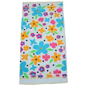 حوله دستی کالای خواب متین طرح flower سایز 30 × 60 سانتی متر