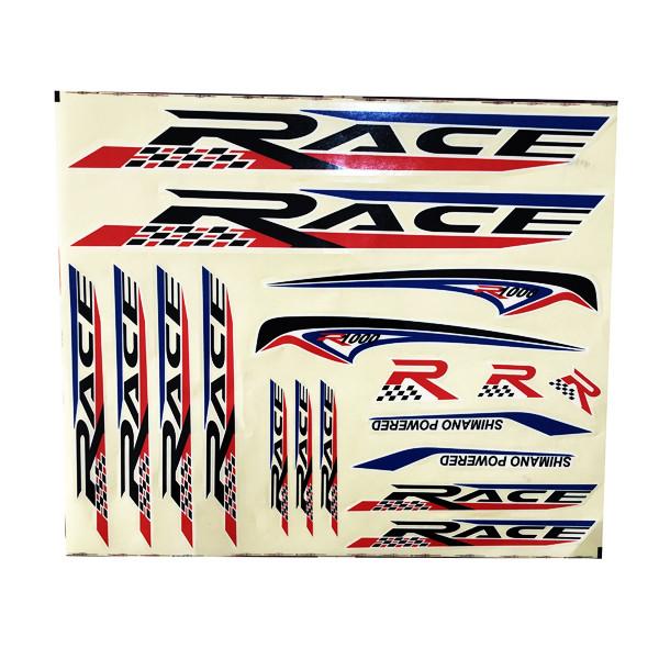 استیکر دوچرخه مدل RACE
