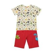 ست تی شرت و شلوارک راحتی پسرانه مادر مدل 2041110-74