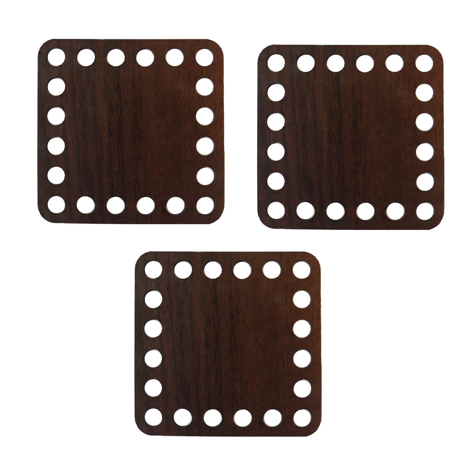 کفی تریکو بافی مدل مربع کد M10 بسته 3 عددی