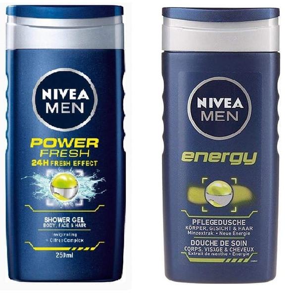 شامپو مو و بدن نیوآ مدل Energy حجم 250 میلی لیتر به همراه شامپو مو و بدن نیوآ مدل Power Fresh