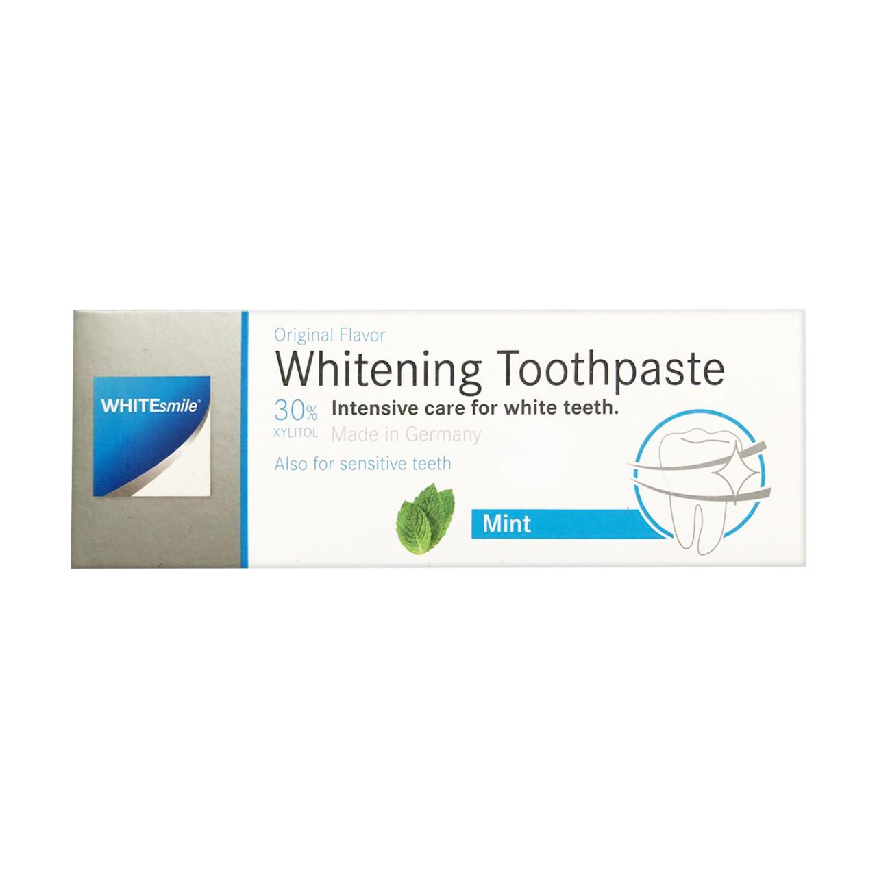 قیمت خمیر دندان سفید کننده  وایت اسمایل مدل Whitening حجم 75میلی لیتر