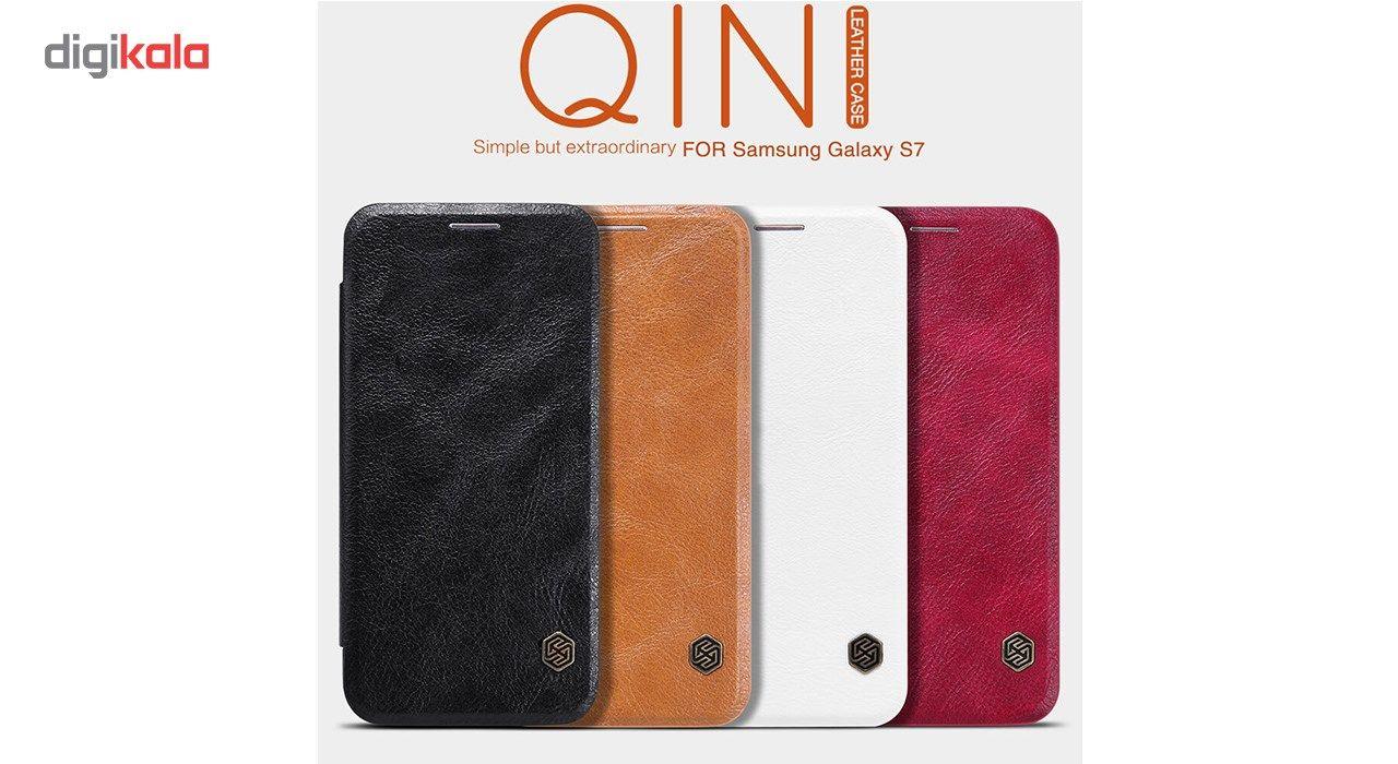 کیف کلاسوری نیلکین مدل Qin مناسب برای گوشی موبایل سامسونگ گلکسی S7 main 1 3