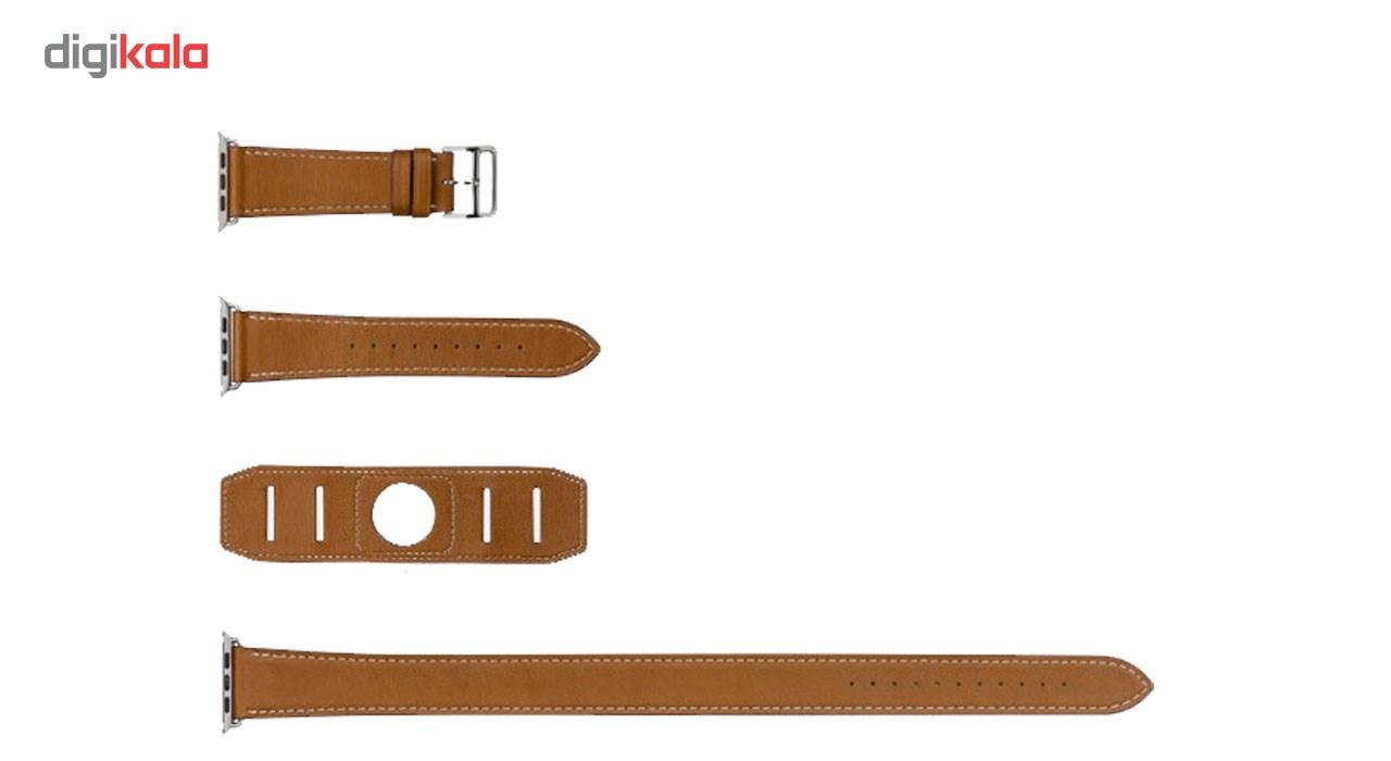 بند چرمی هرمس مدل 3 در 1 مناسب برای اپل واچ 42 میلی متری