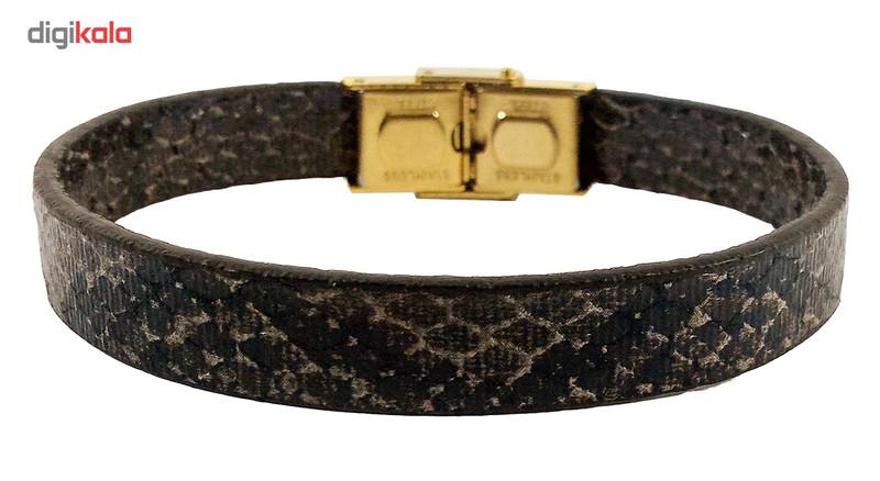 دستبند چرم حامد گالری طرح پوست مار مدل bl4021