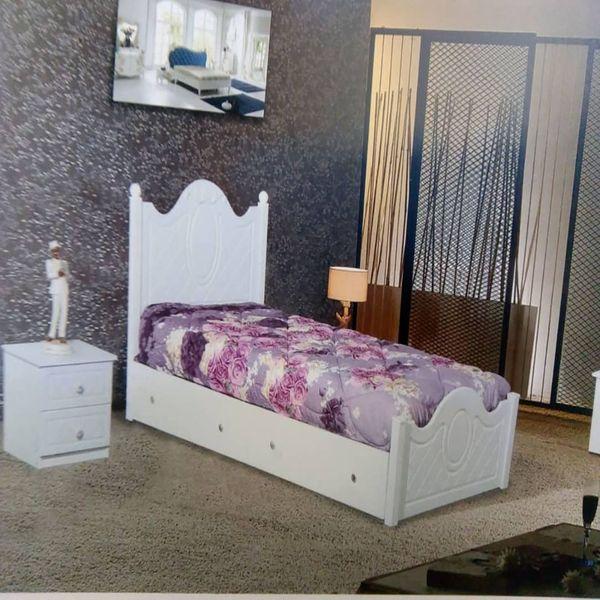 تخت خواب یک نفره مدل T01 سایز 90x200 سانتی متر