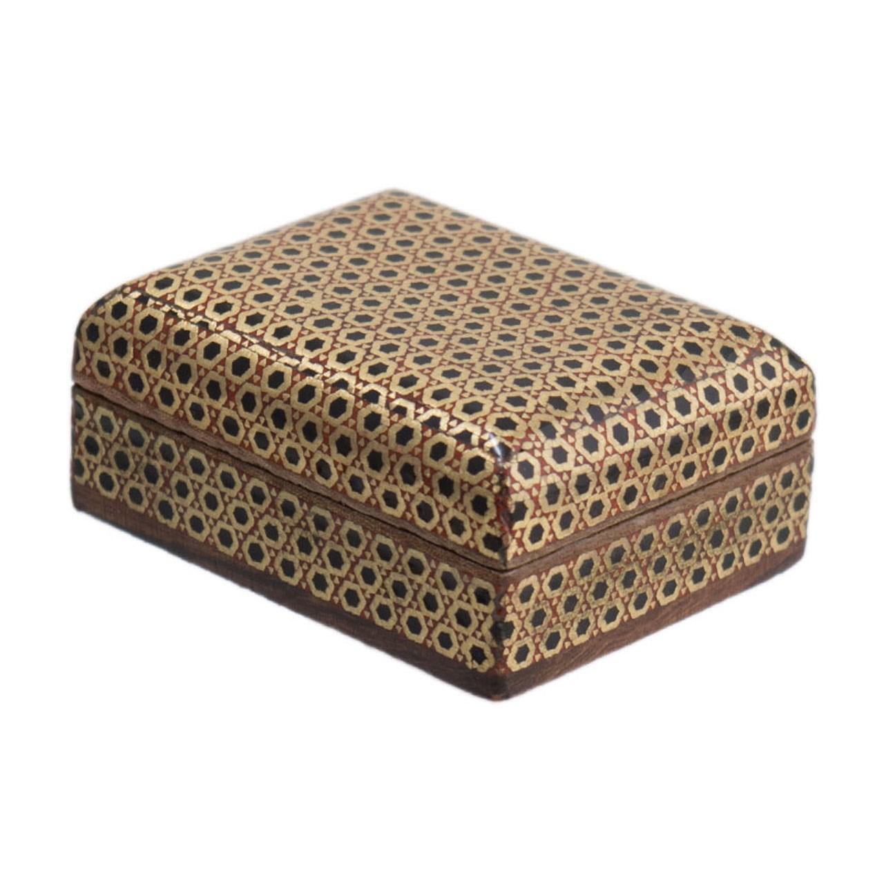 جعبه جواهرات خاتم کاری رستا طرح 31-16-101