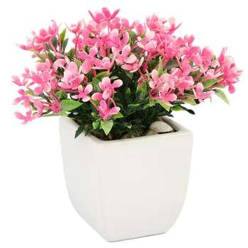 گلدان سرامیک به همراه گل مصنوعی هومز طرح مینا مدل 32507