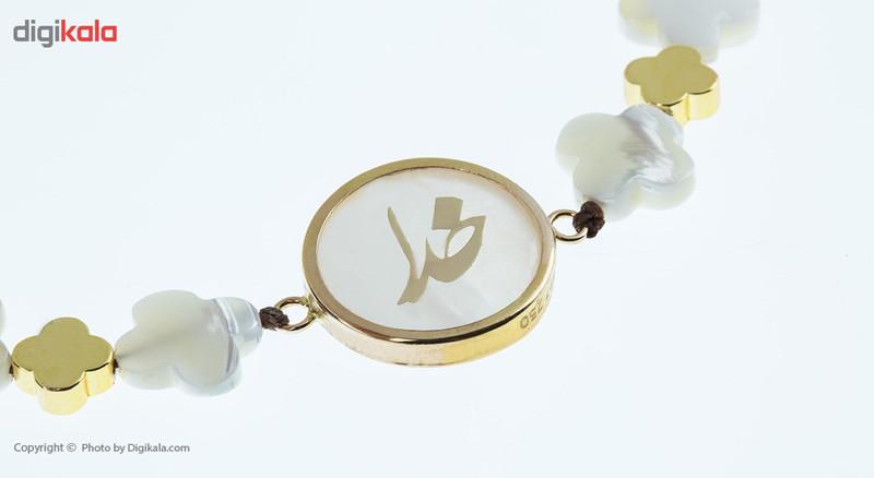 دستبند طلا 18 عیار ماهک مدل MB0402