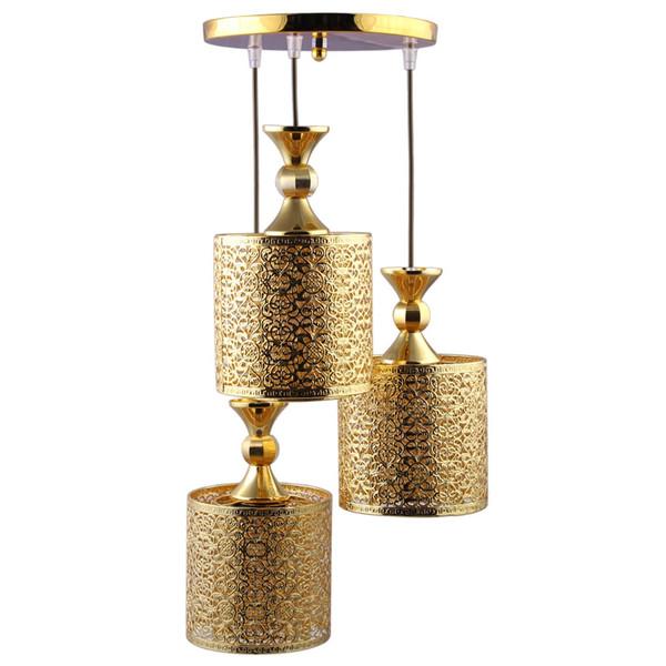 چراغ آویز دیلایت 3 شعله کد Ario-Gold