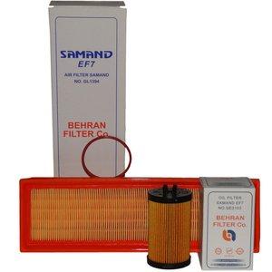 فیلتر هوا و فیلتر روغن خودرو بهران فیلتر مدل GL1394/1 مناسب برای سمند ملی EF7
