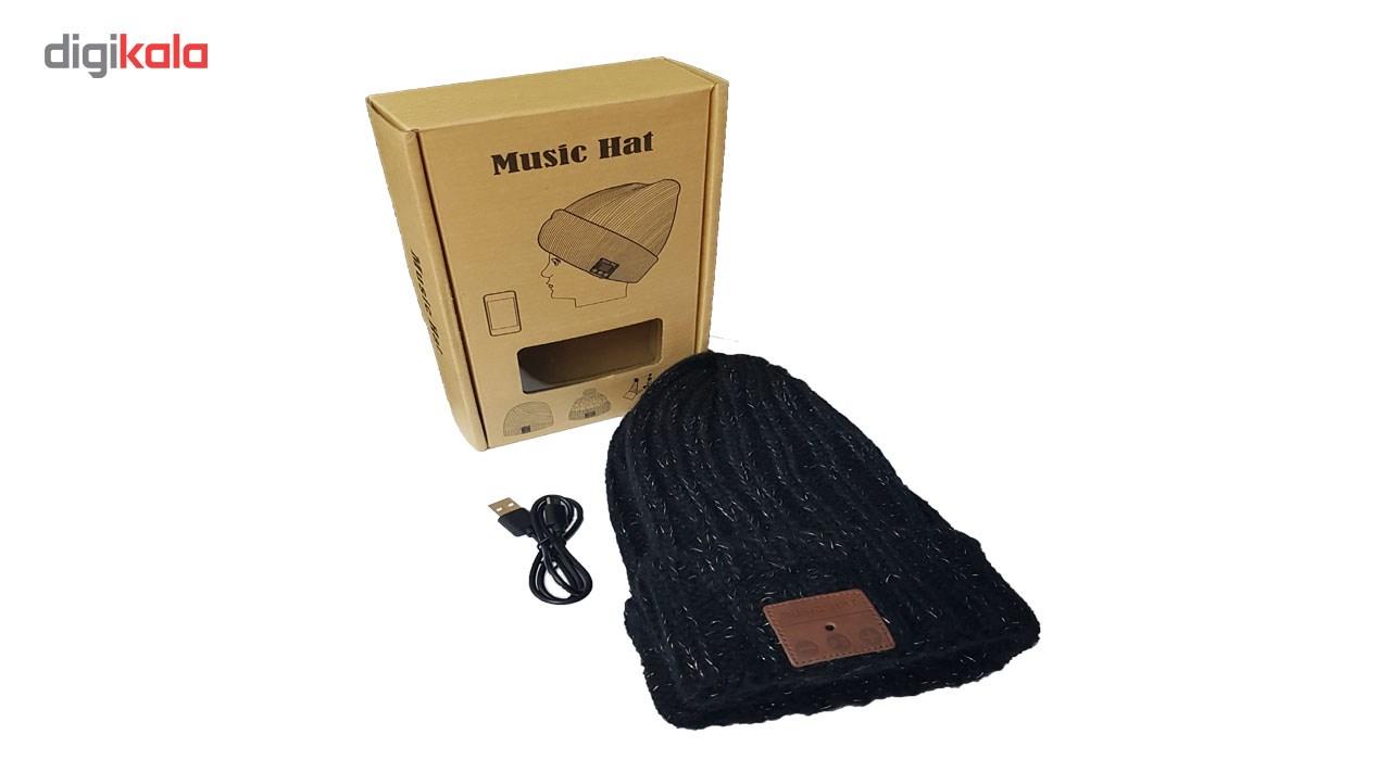 کلاه هدفون بی سیم موزیک هت مدل 2 main 1 4