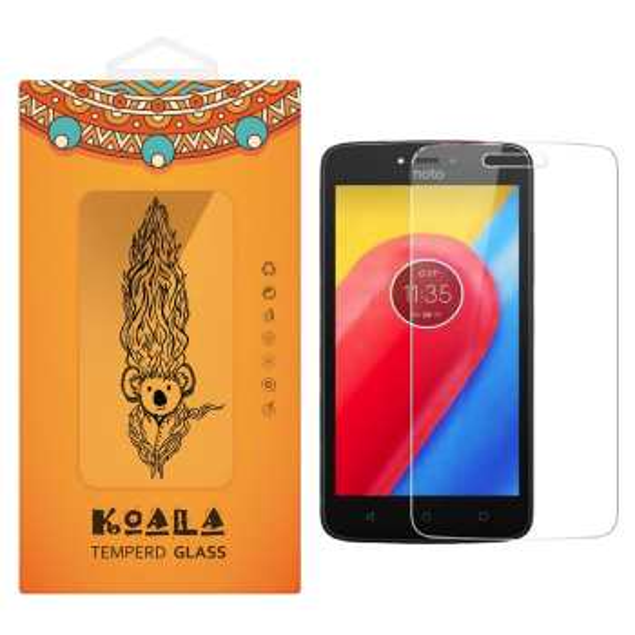 محافظ صفحه نمایش شیشه ای کوالا مدل Tempered مناسب برای گوشی موبایل موتورولا Moto C Plus