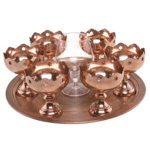 مجموعه ظروف هفت سین 8 پارچه مس لاین مدل 02