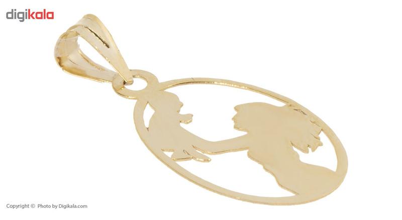 آویز گردنبند طلا 18 عیار ماهک مدل MM0628