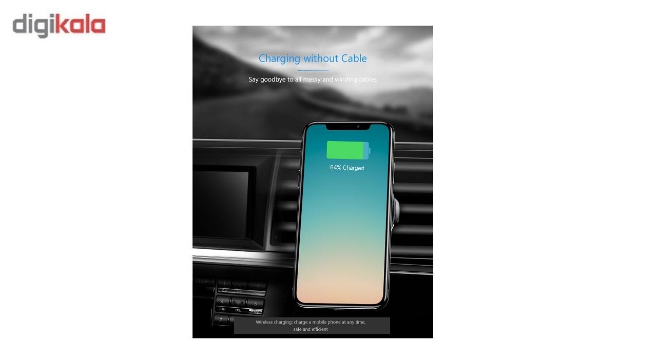 پایه نگه دارنده گوشی و وایرلس شارژر  موبایل باسئوس مدلWireless Charger Gravity Car Moment main 1 1