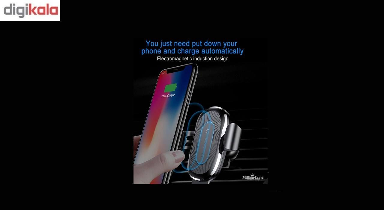 پایه نگه دارنده گوشی و وایرلس شارژر  موبایل باسئوس مدلWireless Charger Gravity Car Moment main 1 3