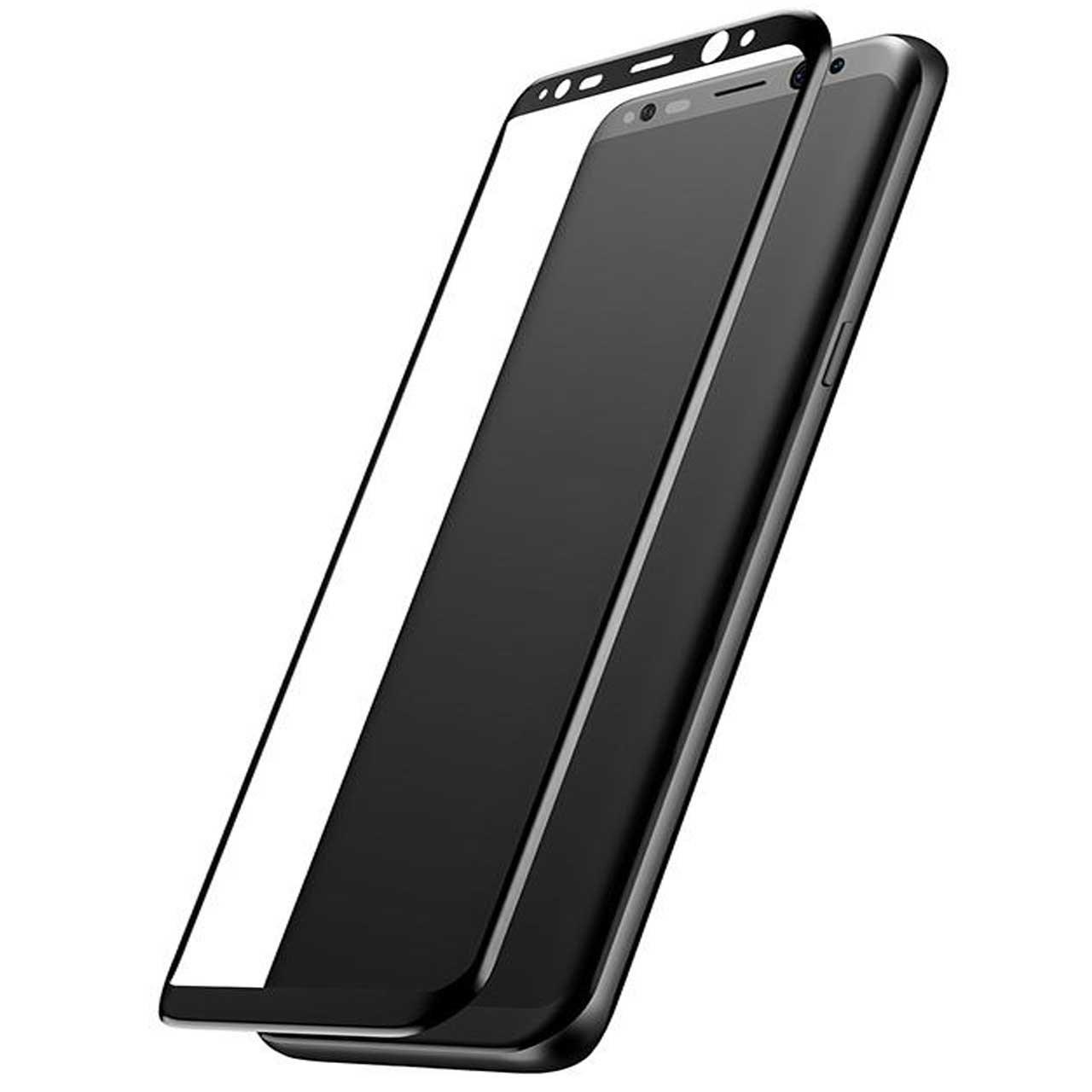 محافظ صفحه نمایش شیشه ای باسئوس مدل 3D Arc Tempered Glass مناسب برای گوشی موبایل سامسونگ گلکسی S8 Plus
