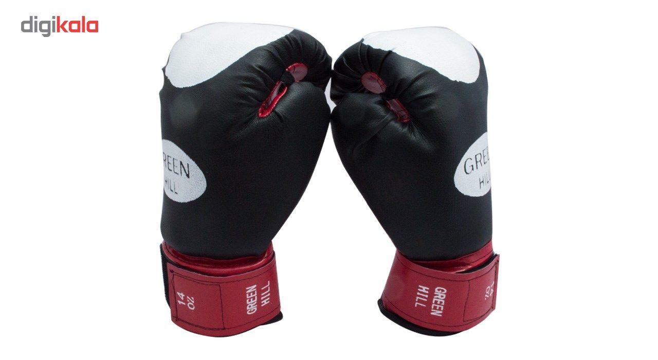 دستکش بوکس سایز 14 اونس همراه با یک گارد لثه TAMAX همراه با شوز بک main 1 5