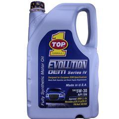 روغن موتور خودرو تاپ وان مدل Evolution 5W-30 حجم 4 لیتر