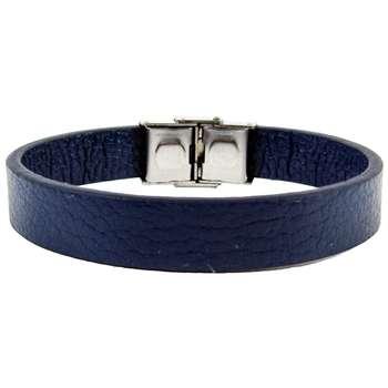 دستبند چرم  مانچو دو رو چرم مدل bl4030