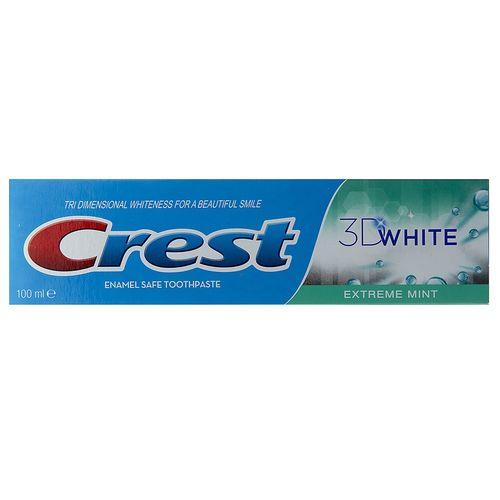 خمیر دندان کرست سری 3D White مدل Exterme Mint حجم 100 میلی لیتر